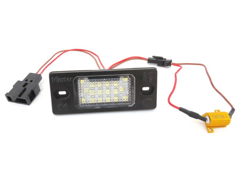 Комплект LED плафони за регистрационен номер за Audi TT,TT Roadster,Volkswagen Golf V,Passat,Touareg,Tiguan,Porsche Cayenne,Cayenne S, ляв и десен 5
