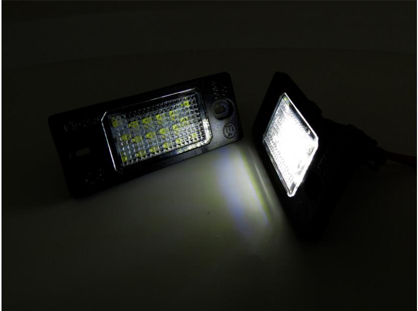 Комплект LED плафони за регистрационен номер за Audi TT,TT Roadster,Volkswagen Golf V,Passat,Touareg,Tiguan,Porsche Cayenne,Cayenne S, ляв и десен 11