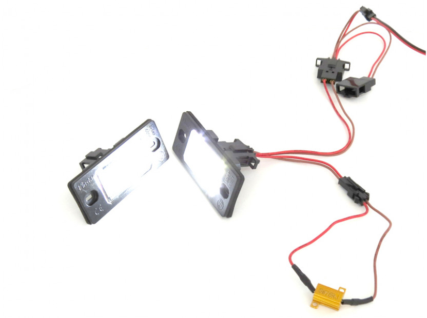 Комплект LED плафони за регистрационен номер за Audi TT,TT Roadster,Volkswagen Golf V,Passat,Touareg,Tiguan,Porsche Cayenne,Cayenne S, ляв и десен 9