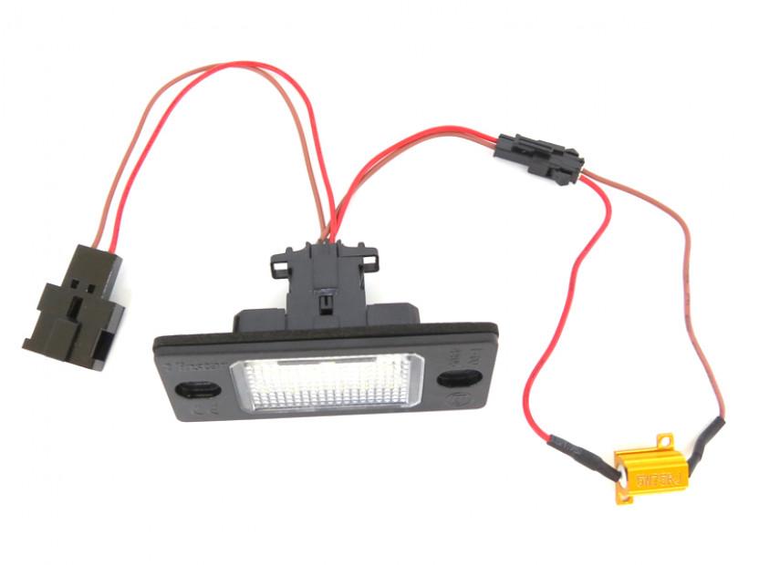 Комплект LED плафони за регистрационен номер за Audi TT,TT Roadster,Volkswagen Golf V,Passat,Touareg,Tiguan,Porsche Cayenne,Cayenne S, ляв и десен 6