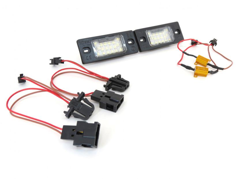 Комплект LED плафони за регистрационен номер за Audi TT,TT Roadster,Volkswagen Golf V,Passat,Touareg,Tiguan,Porsche Cayenne,Cayenne S, ляв и десен 10