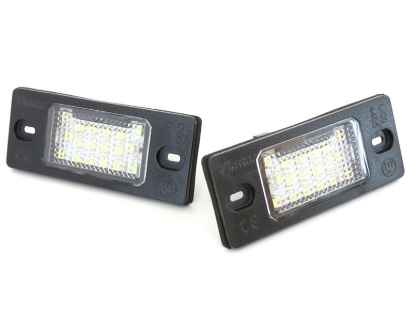 Комплект LED плафони за регистрационен номер за Audi TT,TT Roadster,Volkswagen Golf V,Passat,Touareg,Tiguan,Porsche Cayenne,Cayenne S, ляв и десен 2
