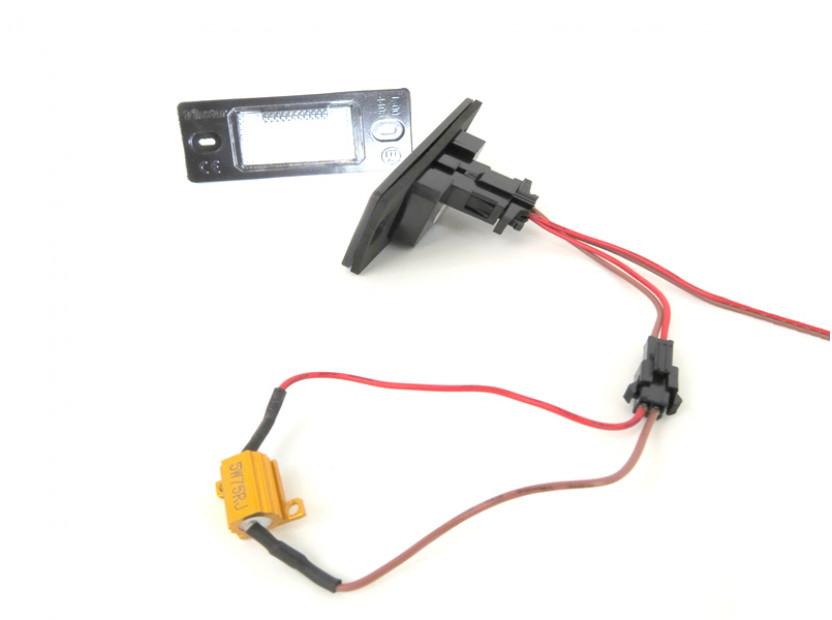 Комплект LED плафони за регистрационен номер за Audi TT,TT Roadster,Volkswagen Golf V,Passat,Touareg,Tiguan,Porsche Cayenne,Cayenne S, ляв и десен 8
