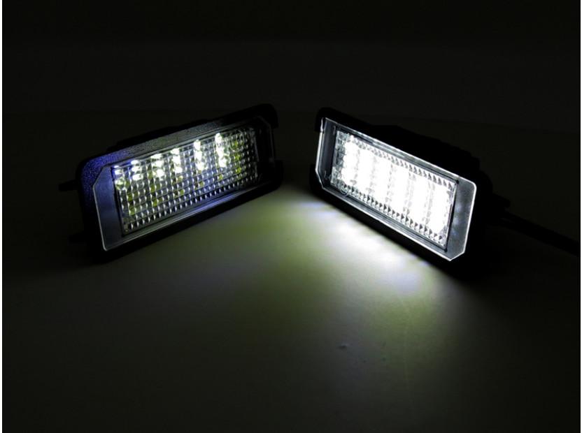 Комплект LED плафони за регистрационен номер за Volkswagen EOS,Golf IV,Golf V,Lupo,New Bittle,Polo,Passat B6,Passat CC,Phaeton 6