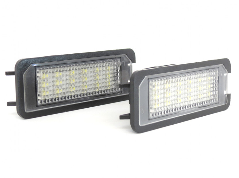Комплект LED плафони за регистрационен номер за Volkswagen EOS,Golf IV,Golf V,Lupo,New Bittle,Polo,Passat B6,Passat CC,Phaeton 3