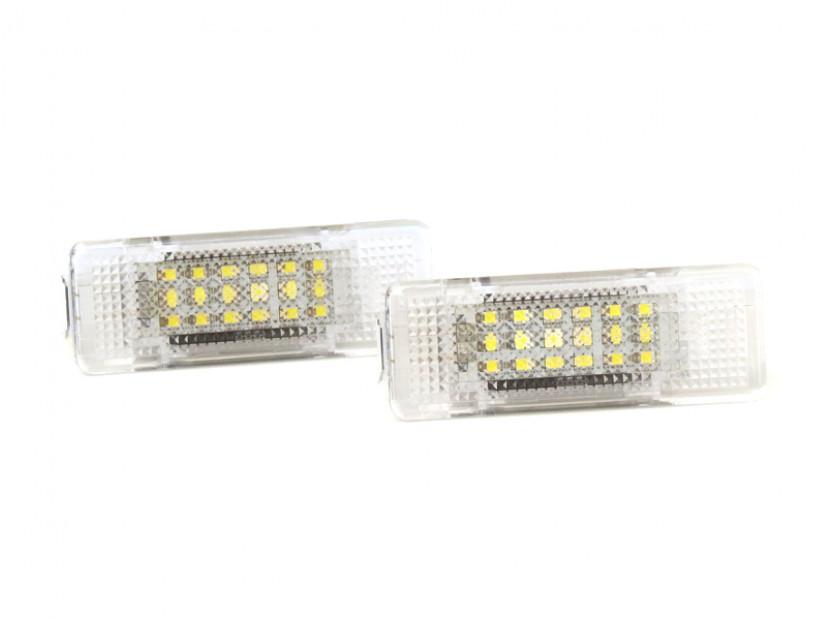 Комплект LED плафони за осветление под вратите за BMW серия 5 E39 1995-2003,X5 E53 1999-2006,Z8 E52 2000-2003, ляв и десен