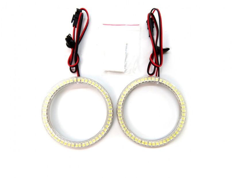 Бели LED Универсални ангелски очи autopro 80мм 11