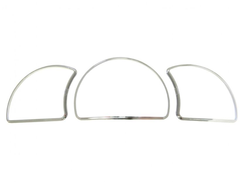 Рингове за табло autopro за Opel Astra F 1991-1999/Vectra A 1988-1995/Calibra 1990-1997, цвят хром 5