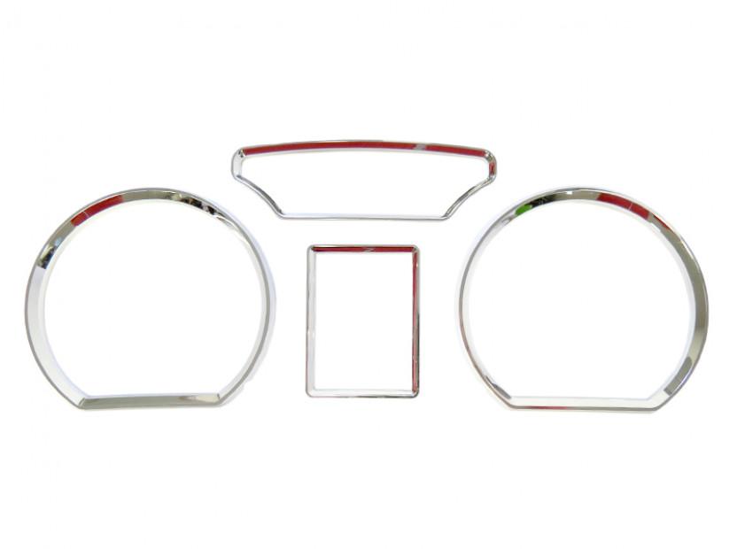 Рингове за табло autopro за Volkswagen Polo 9N 2001-2006, цвят хром