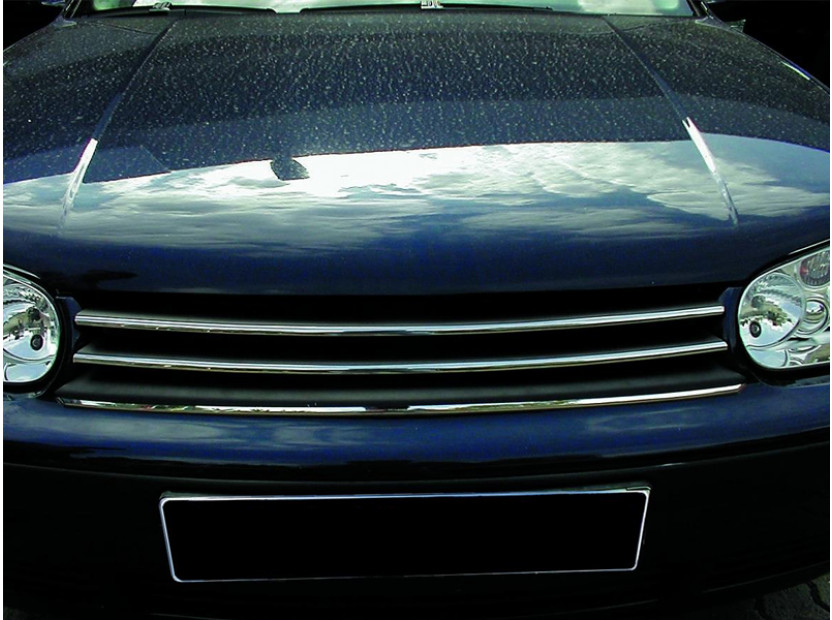 Хром/черна решетка без емблема за VW Golf IV 1997-2003 10