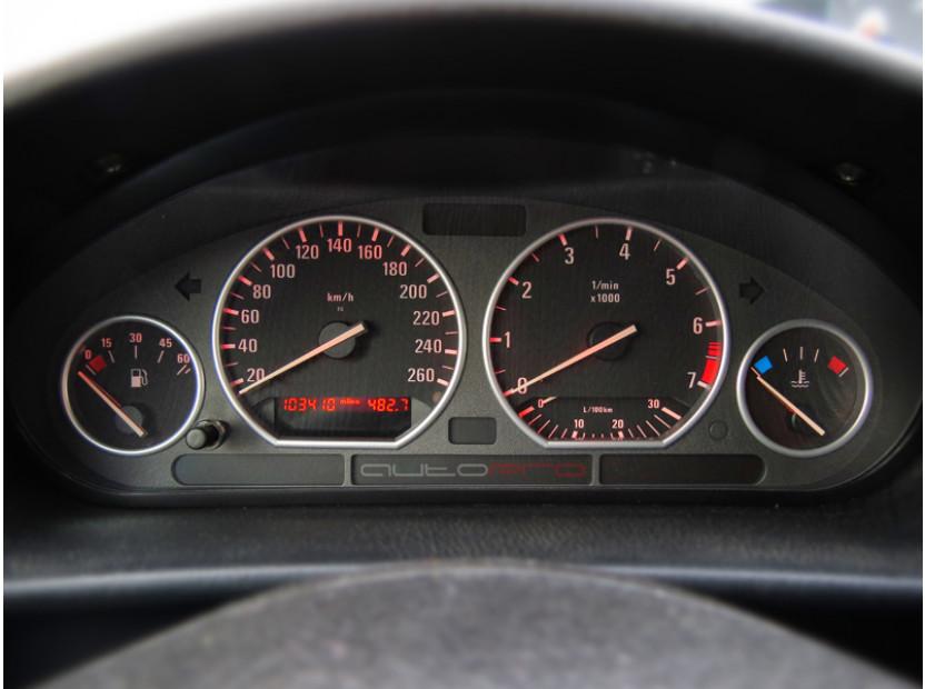Рингове за табло autopro за BMW серия 3 E36 всички версии 1990-1999, цвят сиви 12