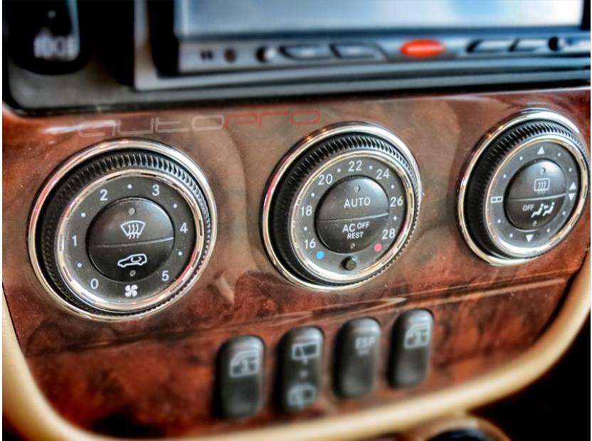 Рингове за парно autopro за Mercedes M класа ML W163 2002-2005, цвят хром 5