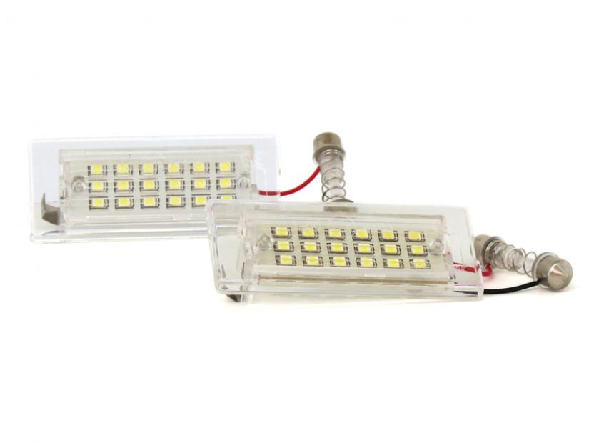 Комплект LED плафони за регистрационен номер за BMW X3 E83 2003-2010, X5 E53 1999-2006, ляв и десен