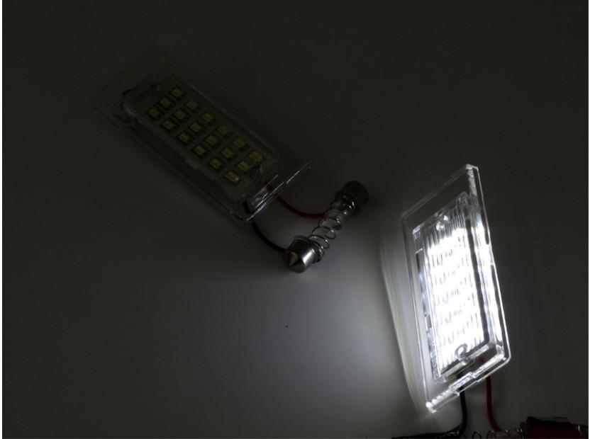 Комплект LED плафони за регистрационен номер за BMW X3 E83 2003-2010, X5 E53 1999-2006, ляв и десен 4