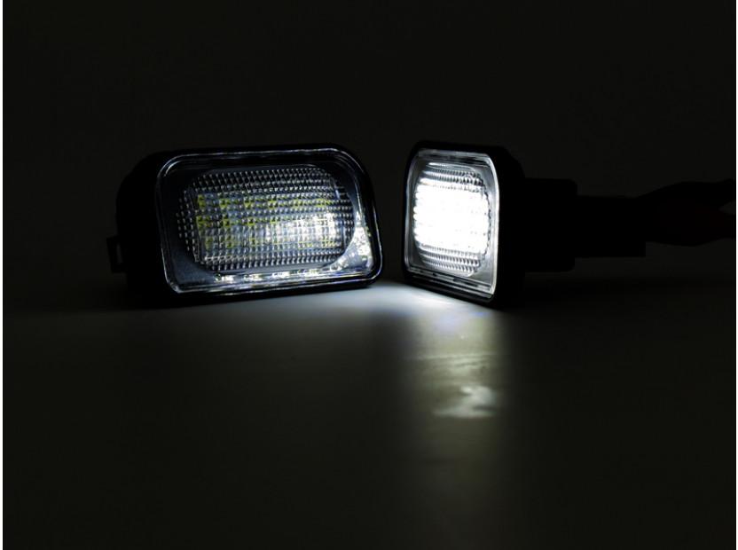 Комплект LED плафони за регистрационен номер за Mercedes C класа,SL,CLK,Chrysler Crossfire, ляв и десен 6