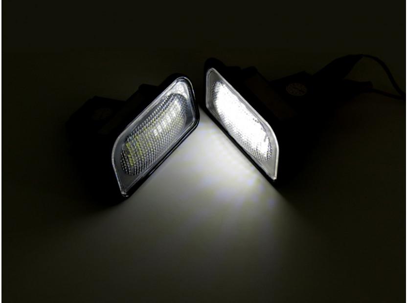 Комплект LED плафони за регистрационен номер за Mercedes C класа,SL,CLK,Chrysler Crossfire, ляв и десен 5