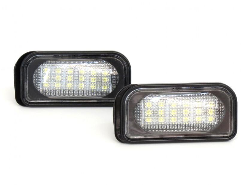 Комплект LED плафони за регистрационен номер за Mercedes C класа,SL,CLK,Chrysler Crossfire, ляв и десен