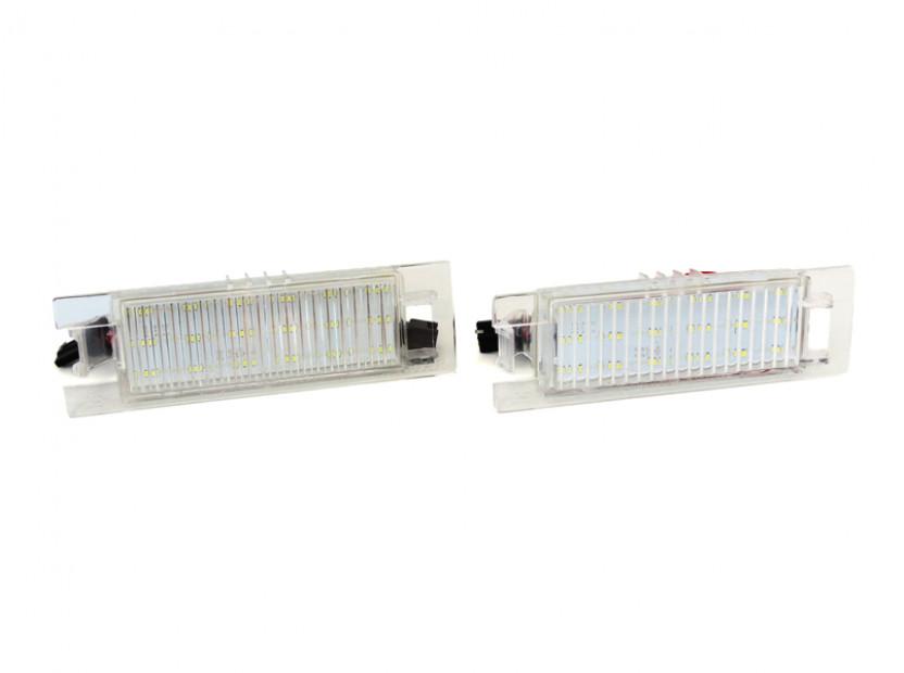 Комплект LED плафони за регистрационен номер за Opel Astra H,Astra J,Corsa C,Corsa D,Insignia,Meriva A,Vectra D,Tigra B,Zafira B, ляв и десен