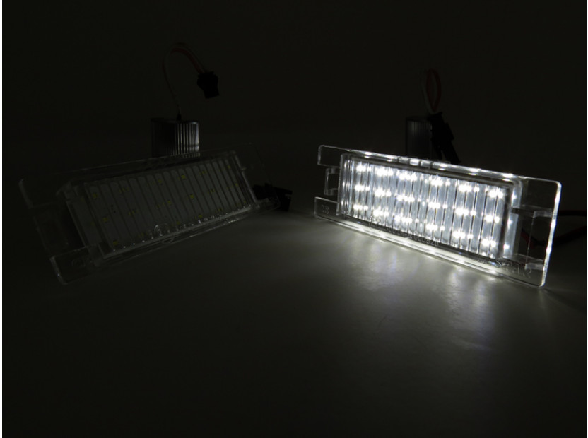 Комплект LED плафони за регистрационен номер за Opel Astra H,Astra J,Corsa C,Corsa D,Insignia,Meriva A,Vectra D,Tigra B,Zafira B, ляв и десен 4