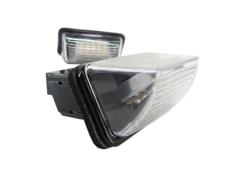 Комплект LED плафони за регистрационен номер за Peugeot 206,207,306,307,308,406,407,5008,Parthner, Citroen C3,C4,C5,Berlingo,Saxo,Xsara,Xsara Picasso, ляв и десен 4