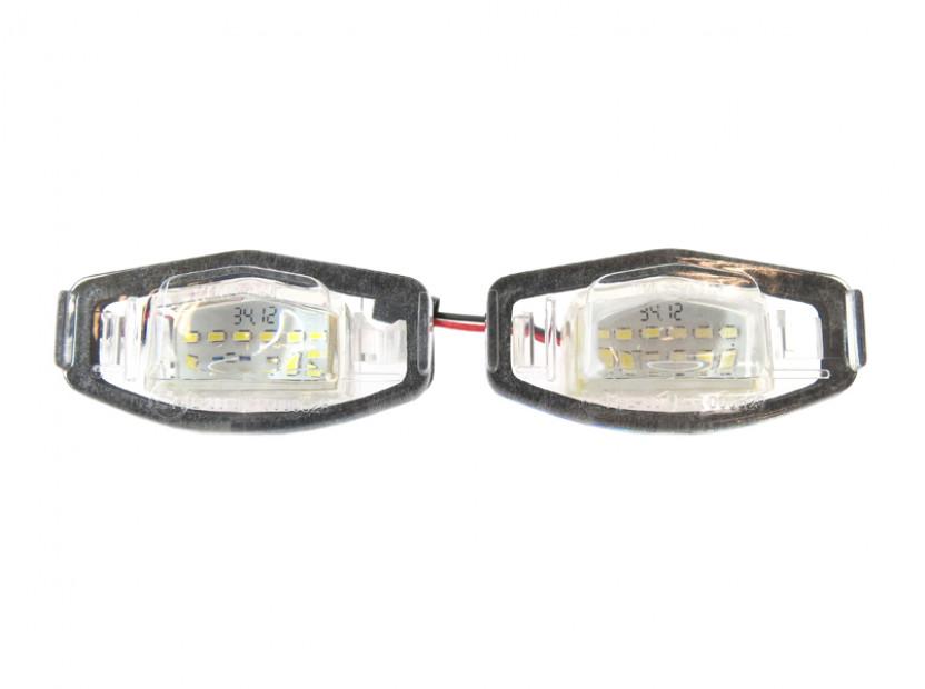 Комплект LED плафони за регистрационен номер за Honda Civic,Accord,Legend,City,Pilot, ляв и десен