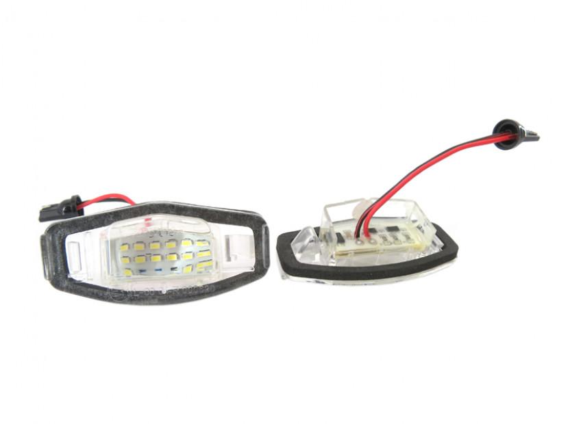 Комплект LED плафони за регистрационен номер за Honda Civic,Accord,Legend,City,Pilot, ляв и десен 2
