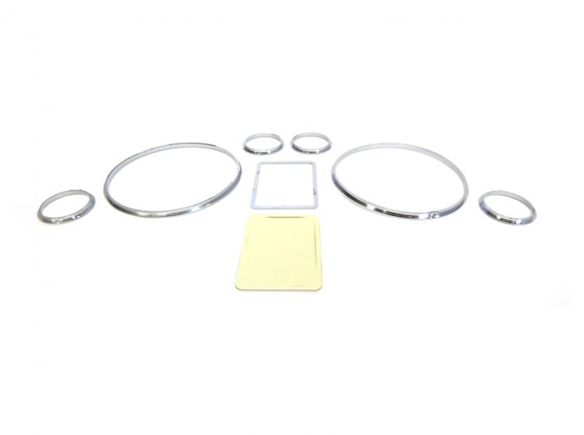 Рингове за табло autopro за Audi А3 1996-2003/A4 1994-2001/A6 1997-2004, цвят сиви 5
