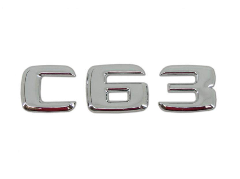 Емблема C63 Хром