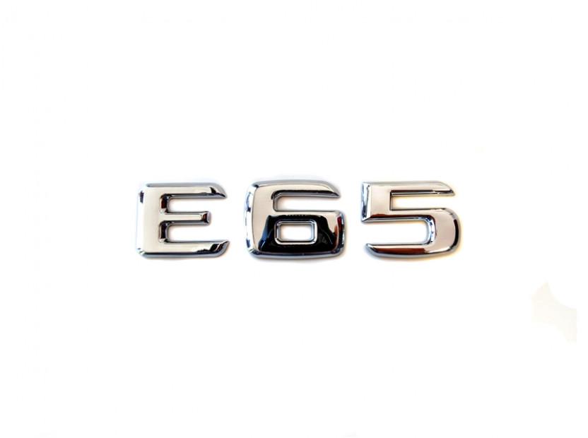 Емблема Е65 Хром