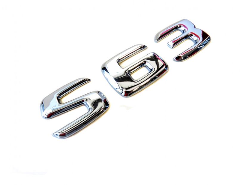 Емблема S63 Хром 2
