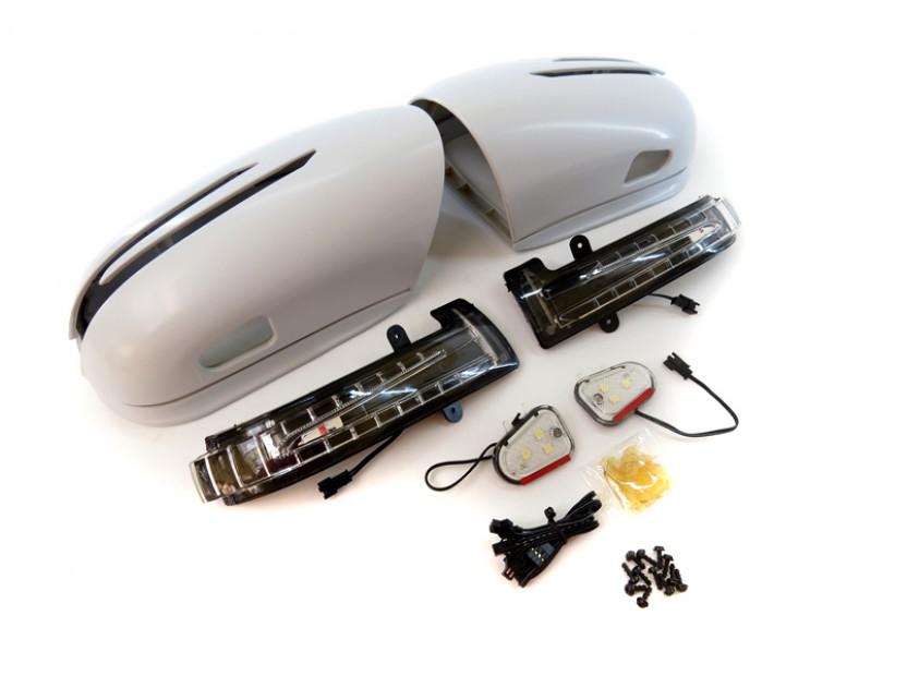 Капаци с LED мигачи за странични огледала за Mercedes S класа W220 2002-2005 10