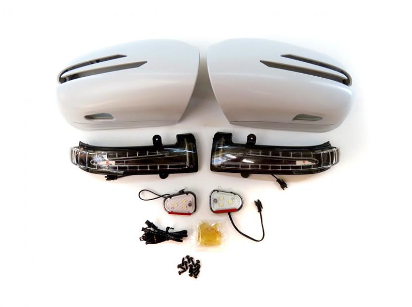 Капаци с LED мигачи за странични огледала за Mercedes S класа W220 2002-2005