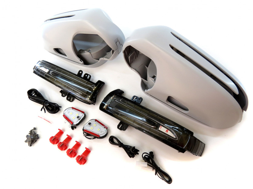 Капаци с LED мигачи за странични огледала за Mercedes SL R230 2002-2005 3