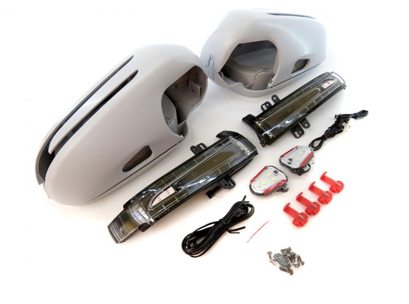 Капаци с LED мигачи за странични огледала за Mercedes SL R230 2002-2005 4