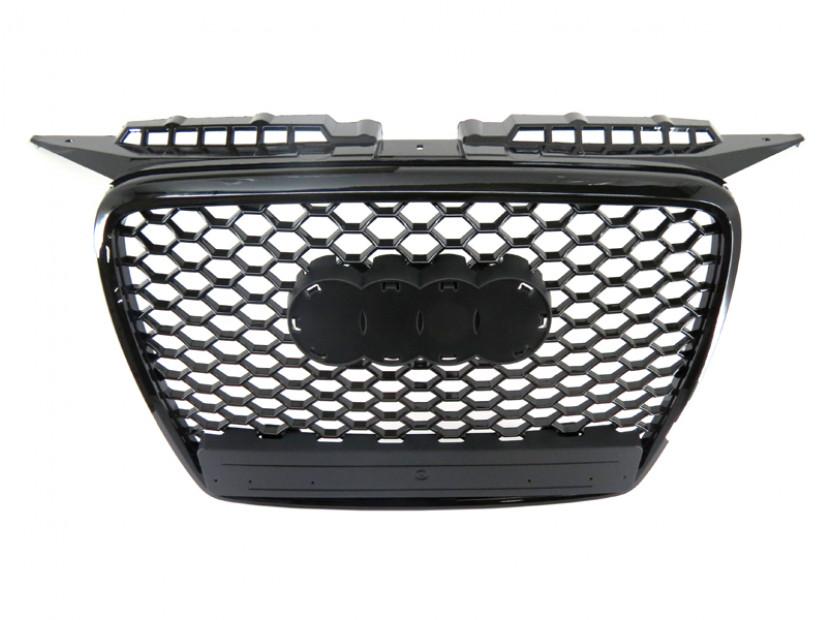 Черна решетка без емблема тип RS за Audi А3 2005-2008 5