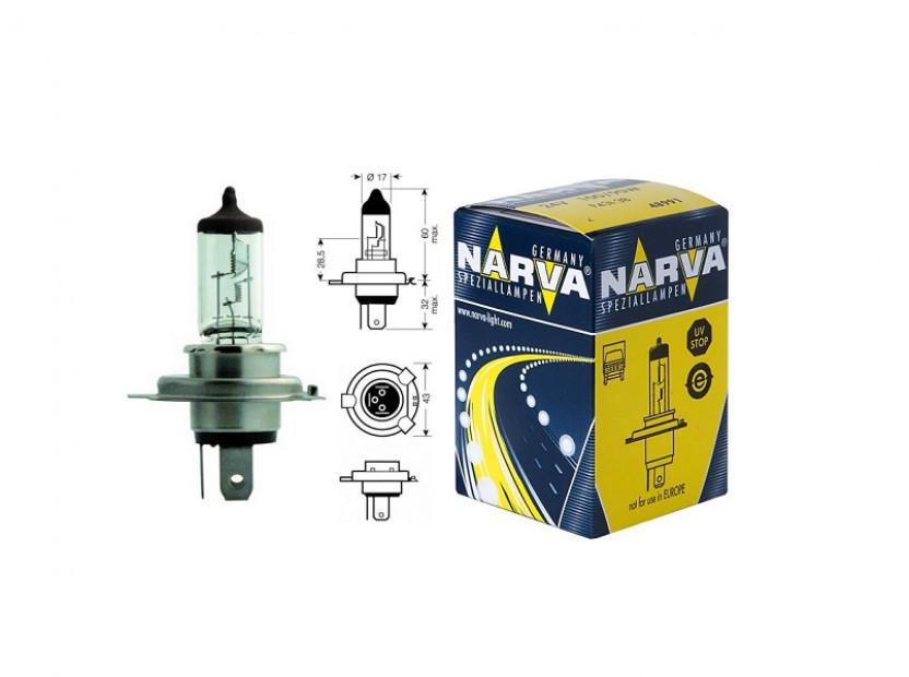 Халогенна крушка Narva H4 24V, 70/75W ,P43t, 1 брой