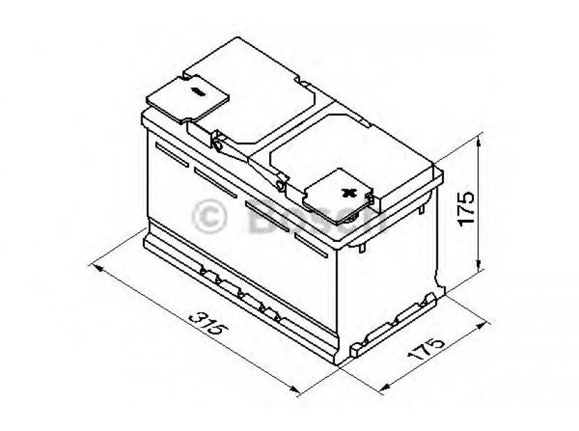 Акумулатор BOSCH Silver Plus S5 12V 85Ah 800 A с десен (+) 2