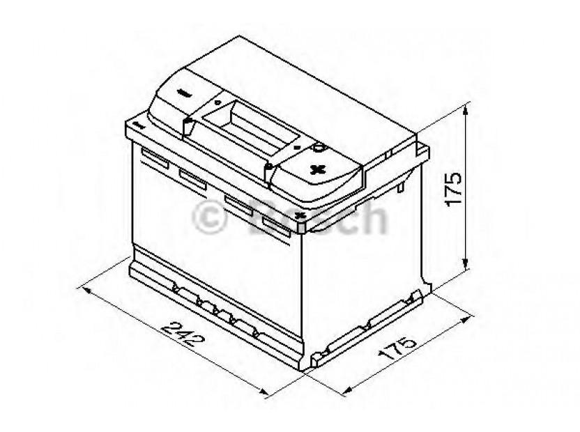 Акумулатор BOSCH Silver S4 12V 60Ah 540 A с десен (+) 2