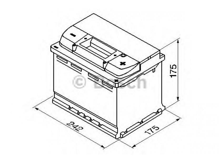 Акумулатор BOSCH Silver Plus S5 12V 61Ah 600 A с десен (+) 2