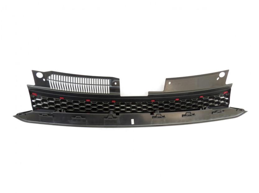 Черна решетка без емблема тип пчелна пита за VW Golf VI GTI 2008-2012 2