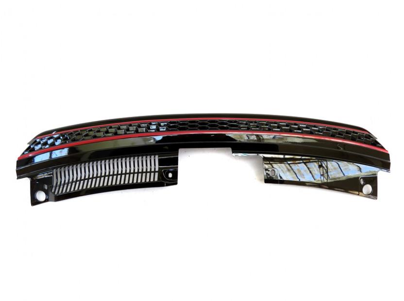 Черна решетка без емблема тип пчелна пита за VW Golf VI GTI 2008-2012 6