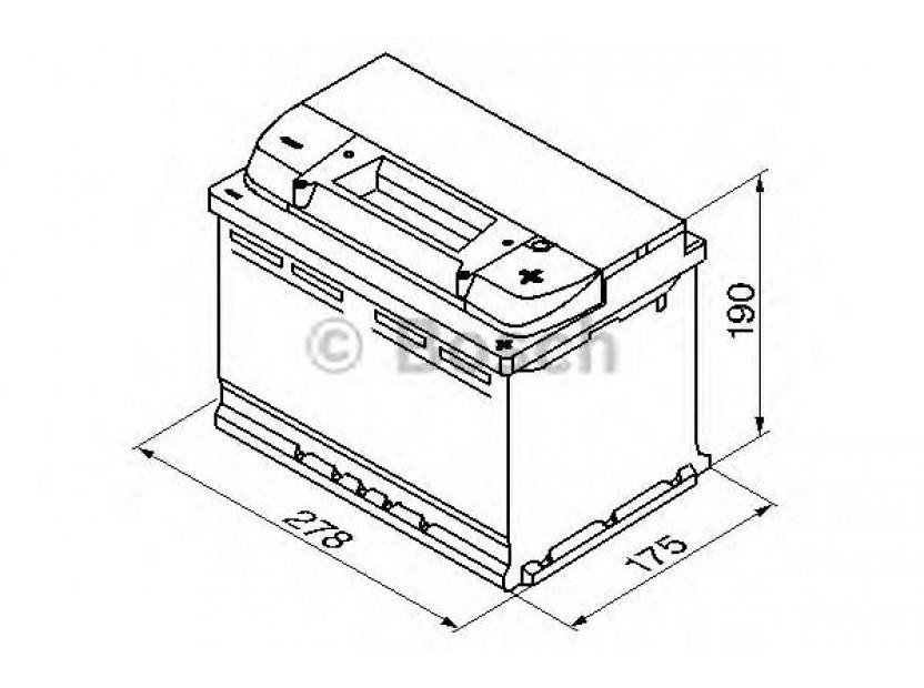 Акумулатор BOSCH Silver Plus S5 12V 77Ah 780 A с десен (+) 2