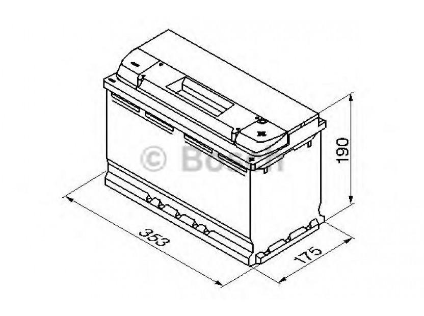 Акумулатор BOSCH Silver Plus S5 12V 100Ah 830 A с десен (+) 2