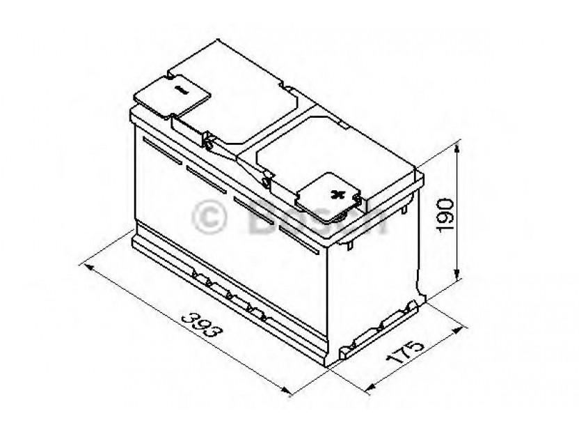 Акумулатор BOSCH Silver Plus S5 12V 110Ah 920 A с десен (+) 2