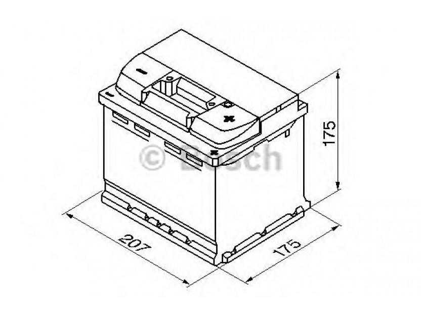 Акумулатор BOSCH Silver S5 12V 52Ah 520 A с десен (+) 2