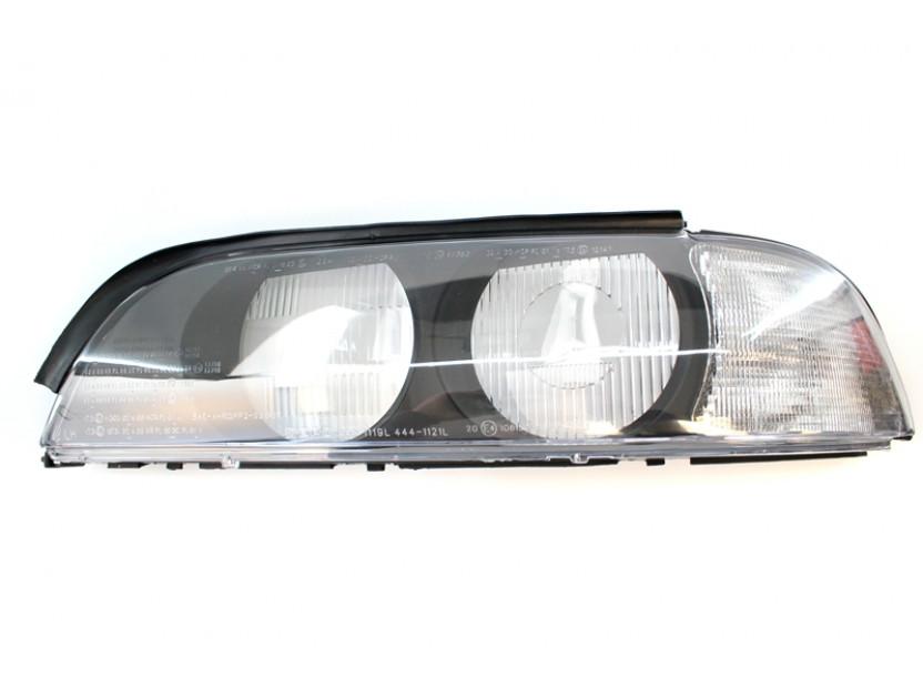 Ляво стъкло за фар за BMW серия 5 E39 1995-1999 с бял мигач