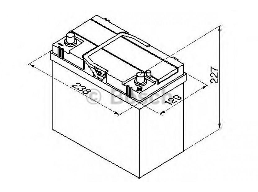 Акумулатор BOSCH Silver S4 12V 45Ah 330 A с тънки полюси с десен (+) АЗИЯ 2