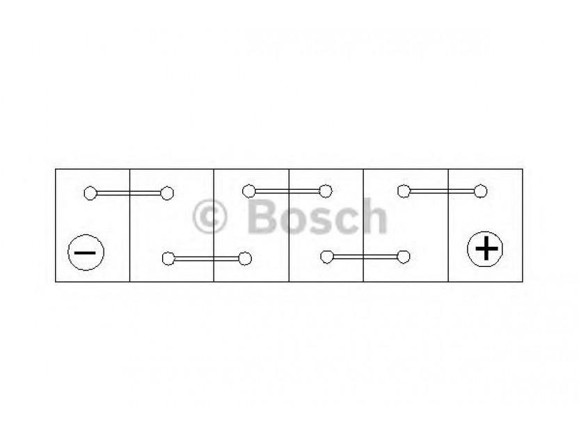 Акумулатор BOSCH Silver S4 12V 45Ah 330 A с тънки полюси с десен (+) АЗИЯ 3