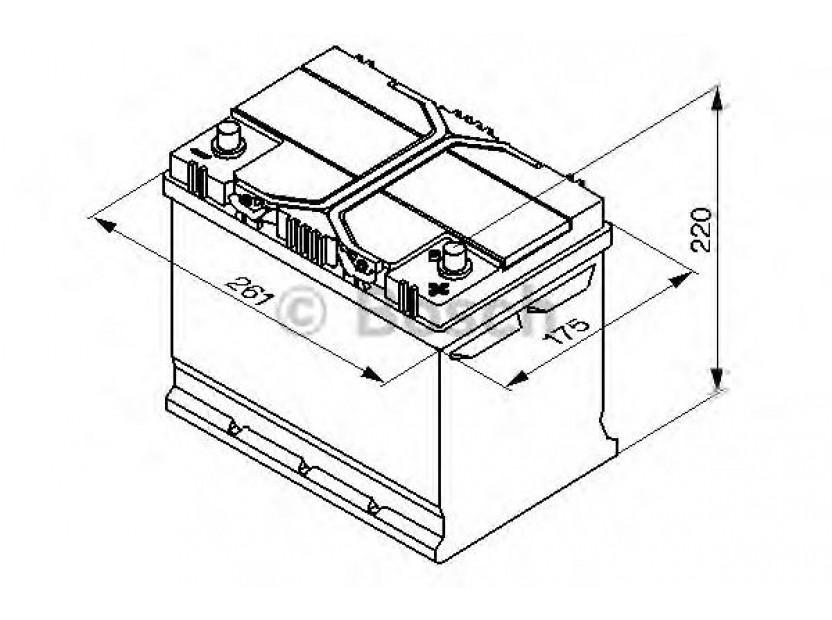 Акумулатор BOSCH Silver S4 12V 70Ah 630 A с десен (+) АЗИЯ 3