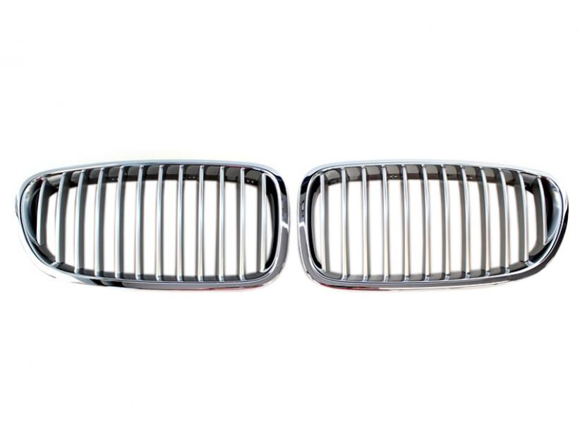Бъбреци хром/сиви за BMW серия 5 F10 седан/F11 комби 2010 =>